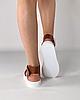 Босоніжки жіночі шкіряні коричневі дутики MORENTO, фото 5