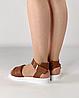 Босоножки женские кожаные коричневые дутики MORENTO, фото 4