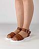 Босоніжки жіночі шкіряні коричневі дутики MORENTO, фото 2