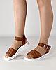 Босоножки женские кожаные коричневые дутики MORENTO, фото 3