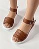 Босоніжки жіночі шкіряні коричневі дутики MORENTO, фото 6