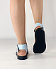 Босоніжки жіночі шкіряні блакитні дутики MORENTO, фото 5