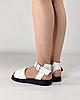 Босоніжки жіночі шкіряні білі дутики MORENTO, фото 4