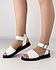 Босоніжки жіночі шкіряні білі дутики MORENTO, фото 3