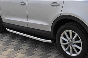 Toyota Highlander 2014↗ рр. Бічні пороги Fullmond (2 шт., алюміній)