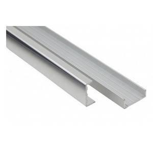ZaguПланка алюминиевая торцовочная шоколад L=3m