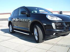 Porsche Cayenne 2003-2010 рр. Бічні пороги BlackLine (2 шт., алюміній)