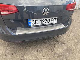 Накладка на задний бампер OmsaLine (нерж) SW (универсал) Volkswagen Passat B8 2015↗ гг.