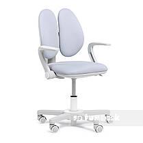 Детское эргономичное вращающееся кресло Fundesk Mente Pink с подлокотниками, фото 3