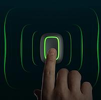 Бездротова тривожна кнопка / смарт кнопка Ajax Button, чорна