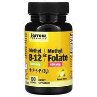 Метил B12 и метилфолат, Methyl B12 & Methyl Folate Jarrow Formulas 1000 мкг / 400 мкг, 100 леденцов