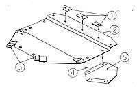 Металлическая (стальная) защита двигателя (картера) Audi A4 B5 (V6) (1994-2001) (V-2,4; 2.5D; 2.6; 2.8 )