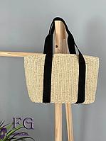 Соломенная женская сумка корзинка