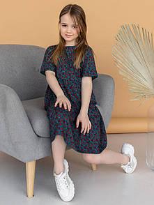 Детское летнее платье свободного кроя