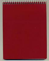 Мицар Блокнот А5/100 стр, пружина сверху офсет. Пластиковая обложка арт. 140005
