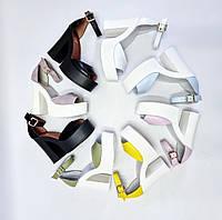 Женские кожаные босоножки платформа и широкий устойчивый каблук очень удобные разные цвета