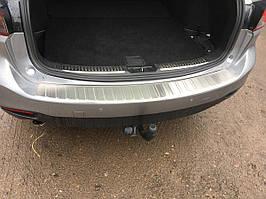 Mazda 6 2012-2018 роках Накладка на задній бампер Carmos (SW, нерж)