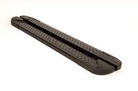 Nissan Navara/NP300 2016↗ Бічні пороги Allmond Black (2 шт., алюм.)