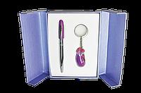 """Langres Набор подарочный """"Aubergine"""" ручка + брелок LS.122013-07"""