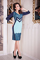 Платье нарядное с кружевом Jannet  р 50