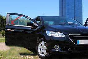 Peugeot 301 Окантовка вікон (нерж) 6 шт, OmsaLine (з кватиркою)
