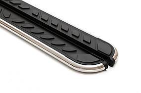 Peugeot Expert 2017↗ рр. Бічні пороги Maydos V1 (2 шт., алюміній ↗ нерж) XS – Коротка база