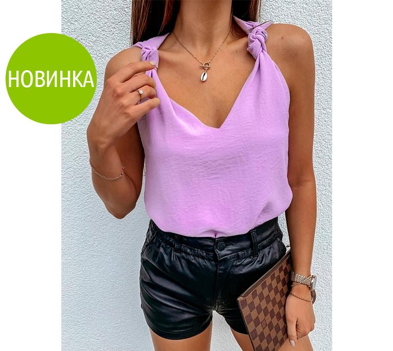 """Модная женская блузка без рукавов """"Polina"""""""