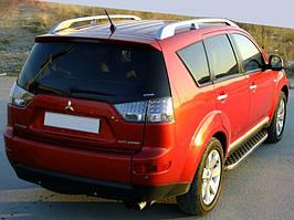Peugeot 4007 Бічні пороги BlackLine (2 шт, алюміній)