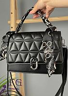 Прямоугольная женская сумочка черная