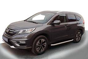 Honda CRV 2017↗ рр. Бічні пороги Fullmond (2 шт., алюм.)