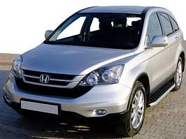 Honda CRV 2017↗ рр. Бічні пороги BlackLine (2 шт, алюміній)
