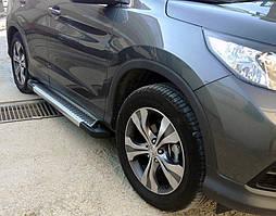 Honda CRV 2017↗ рр. Бічні пороги Line (2 шт., алюміній)