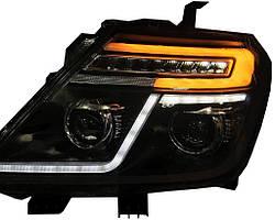 Nissan Patrol Y62 2010↗ рр. Передня оптика з LED (2 шт)
