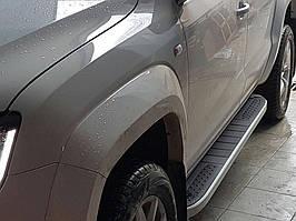 Dacia Duster 2018↗ рр. Бічні пороги Tayga Grey V2 (2 шт., алюміній)