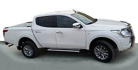 Fiat Fullback 2016↗ рр. Бічні пороги Duru (2 шт., алюміній)