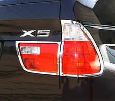 BMW X5 E-53 1999-2006 рр. Хром накладки на стопи (пласт)