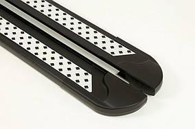 Kia Niro 2016↗ рр. Бічні пороги New Vision Black (2 шт., алюміній)