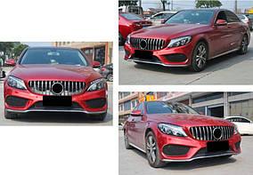 Передня решітка GT 2014-2018, з камерою Mercedes C-сlass W205 2014-2021 рр.