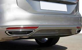 Накладки на глушник (2015-2018, 2 шт, нерж) S-Design - Volkswagen Passat B8 2015↗ рр.