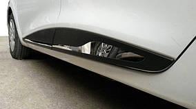 Молдинг дверной прямой (4 шт, нерж) Хром Renault Clio IV 2012-2019 гг.