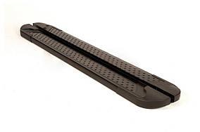 Geely Emgrand X7 Бічні пороги Allmond Black (2 шт., алюміній)