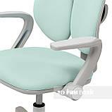 Дитяче ергономічне обертове крісло Fundesk Mente Dark Green з підлокітниками, фото 8