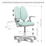 Дитяче ергономічне обертове крісло Fundesk Mente Dark Green з підлокітниками, фото 10