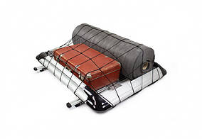 SsangYong Rexton II 2008↗ і 2013↗ рр. Багажник з поперечками і сіткою (100см на 120см) Сірий