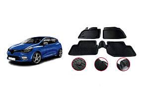 Резиновые коврики (4 шт, Niken 3D) Renault Clio IV 2012-2019 гг.