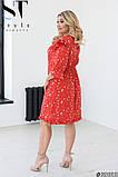 Легке жіноче літнє плаття великого розміру 48-50 (52-54) (56-58), фото 2