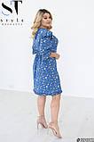 Легке жіноче літнє плаття великого розміру 48-50 (52-54) (56-58), фото 3