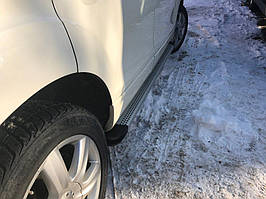 Hyundai Santa Fe 4 2018↗ рр. Бічні пороги Maya V2 (2 шт., алюміній)