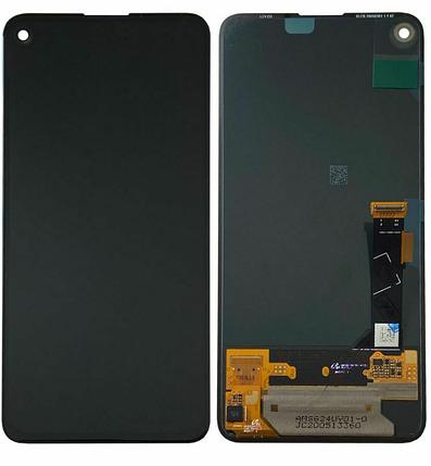 Дисплей (экран) для Google Pixel 4a 5G G025H с сенсором (тачскрином) черный P-OLED, фото 2
