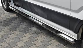 Бічні труби (2 шт., нерж) d60, Long/ExtraLong Volkswagen Crafter 2017↗ рр.